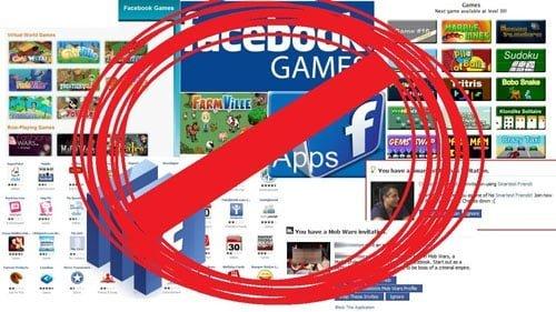 bloccare richieste giochi applicazioni Facebook