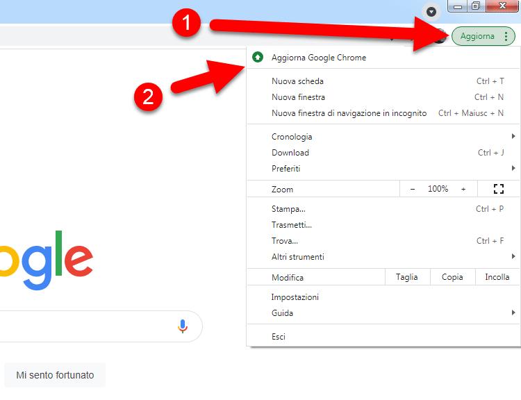 aggiornare google chrome