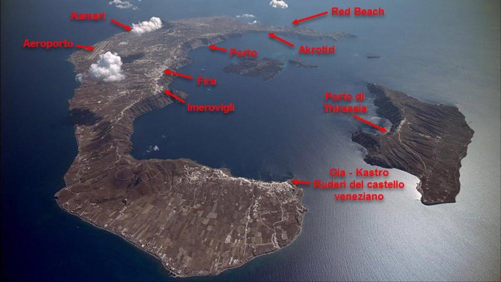 santorini mappa