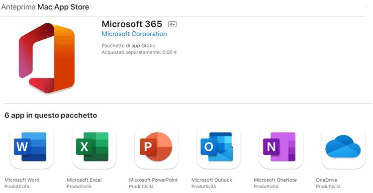 scaricare office per mac gratis