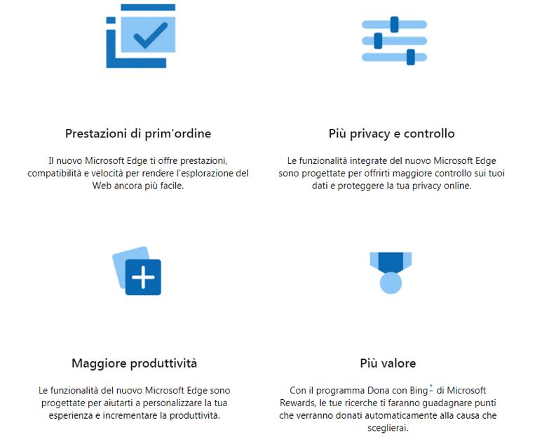 Microsoft edge caratteristiche
