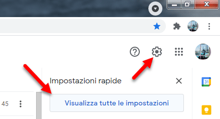 gmail impostazioni